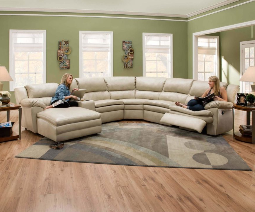 Most Current 4pc Crowningshield Contemporary Chaise Sectional Sofas Intended For 25 Contemporary Curved And Round Sectional Sofas (View 16 of 20)