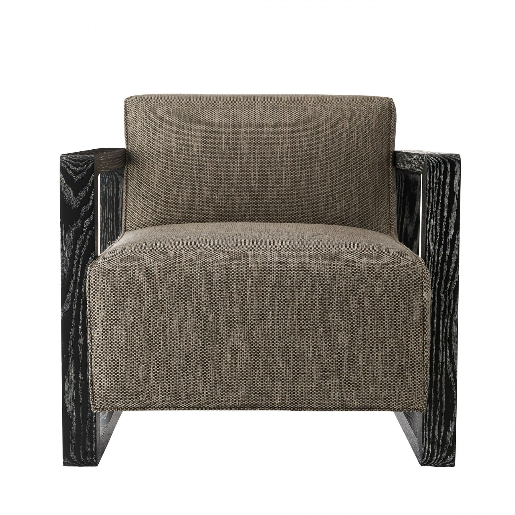 Most Current Antonio Light Gray Leather Sofas Pertaining To Duran Chair Pebble Tweed Black Cerused (View 6 of 20)