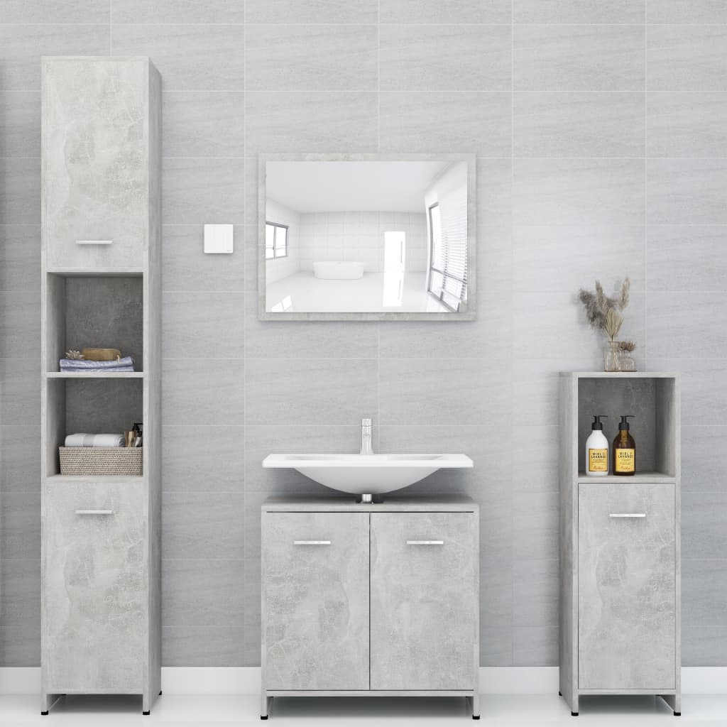 Most Current Bathroom Furniture Set Concrete Grey Chipboard – Furniture With Calvin Concrete Gray Sofas (View 20 of 20)