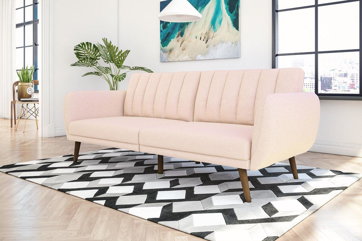 Most Current Brittany Sectional Futon Sofas Intended For Novogratz Brittany Full  (View 3 of 20)