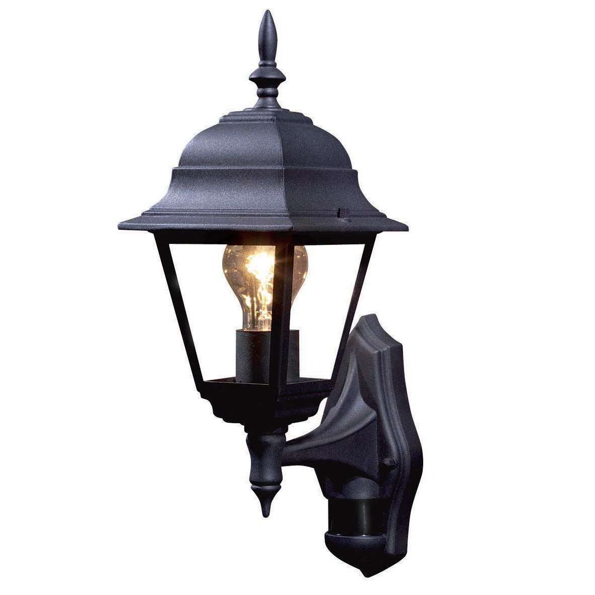 Most Current Cano Wall Lanterns Regarding Pir Lights B Q (View 14 of 20)