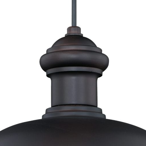 Most Current Franklin 13 In Outdoor Pendant Oil Burnished Bronze And Inside Ranbir Oil Burnished Bronze Outdoor Barn Lights With Dusk To Dawn (View 7 of 20)