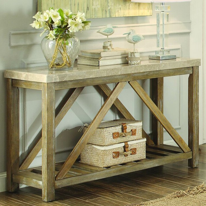 Most Current Gracie Chocolate Sofas In Gracie Oaks Bellas Console Table & Reviews (View 9 of 20)