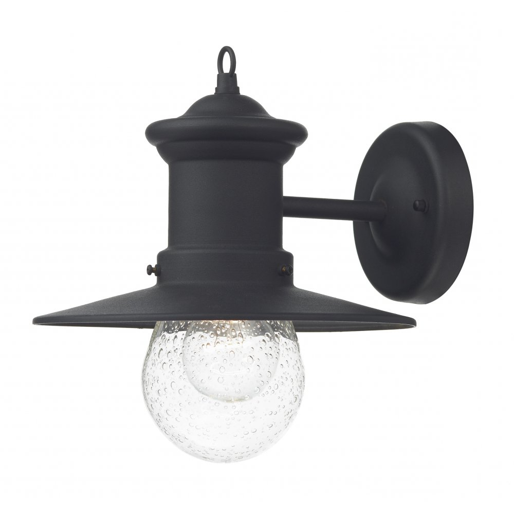 Most Current Heitman Black Wall Lanterns With Regard To Traditonal Black Garden Wall Lantern, Fisherman Style With (View 13 of 20)