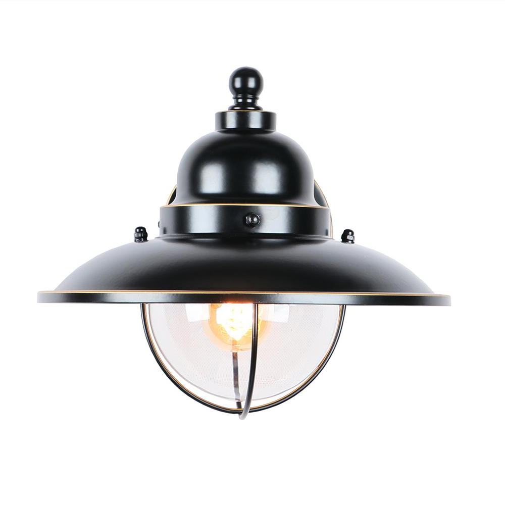 Most Current Leslie Black Outdoor Barn Lights In Y Decor 1 Light Imperial Black Outdoor Wall Light Wall (View 19 of 20)