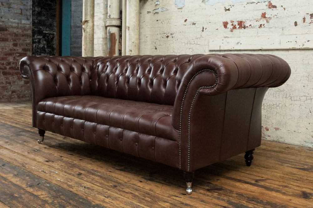 Most Current Montana Chesterfield Sofa – Dark Brown Leather (View 17 of 20)