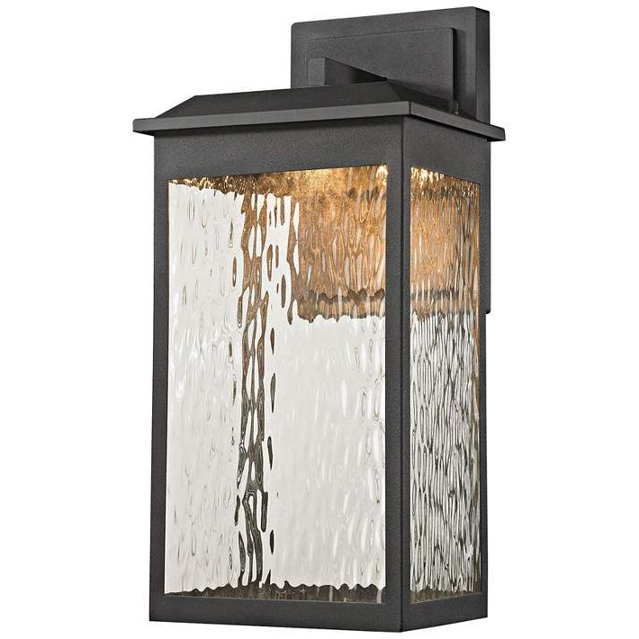 """Most Current Newcastle 17"""" High Matte Black Led Outdoor Wall Light Within Mccay Matte Black Outdoor Wall Lanterns (View 20 of 20)"""