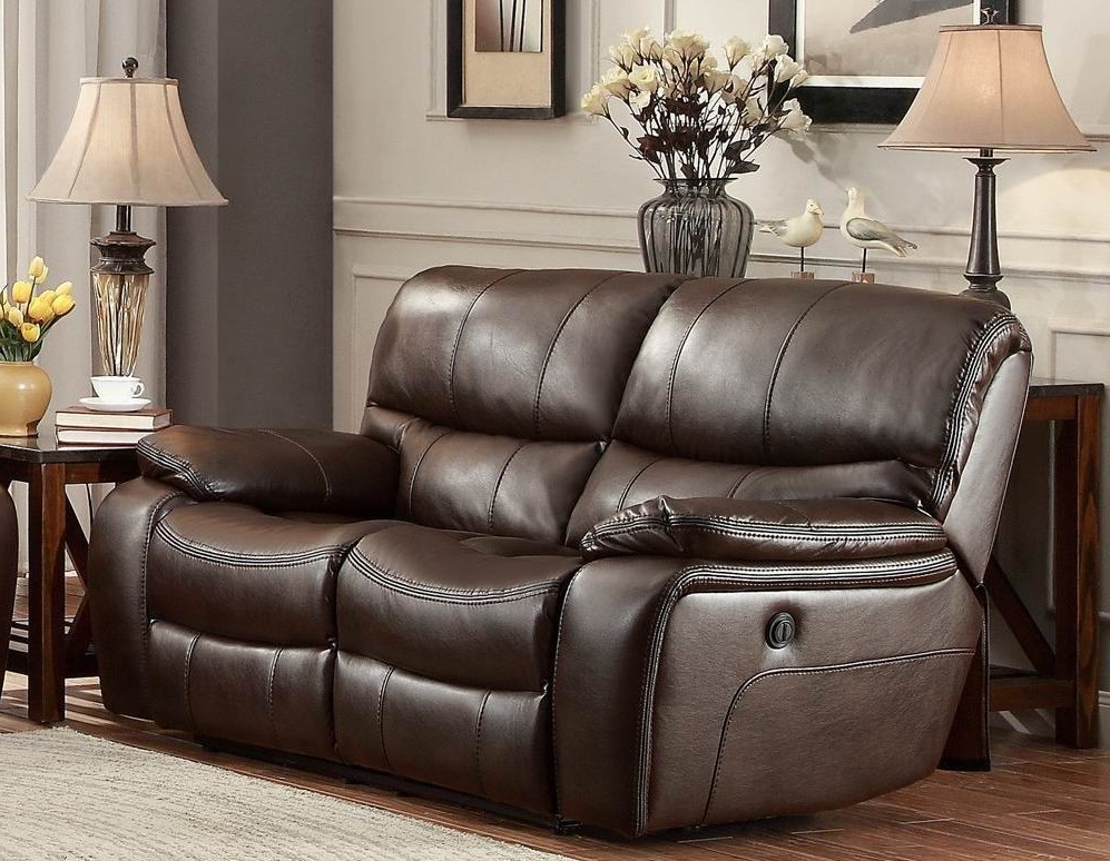 Most Current Pecos Brown Power Double Reclining Loveseat From With Regard To Expedition Brown Power Reclining Sofas (View 4 of 20)