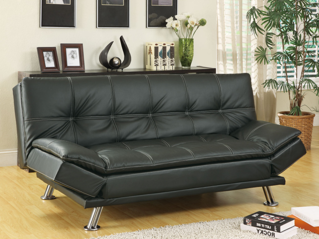 Most Current Simple Review About Living Room Furniture: Sleeper Sofas Throughout Easton Small Space Sectional Futon Sofas (View 7 of 20)