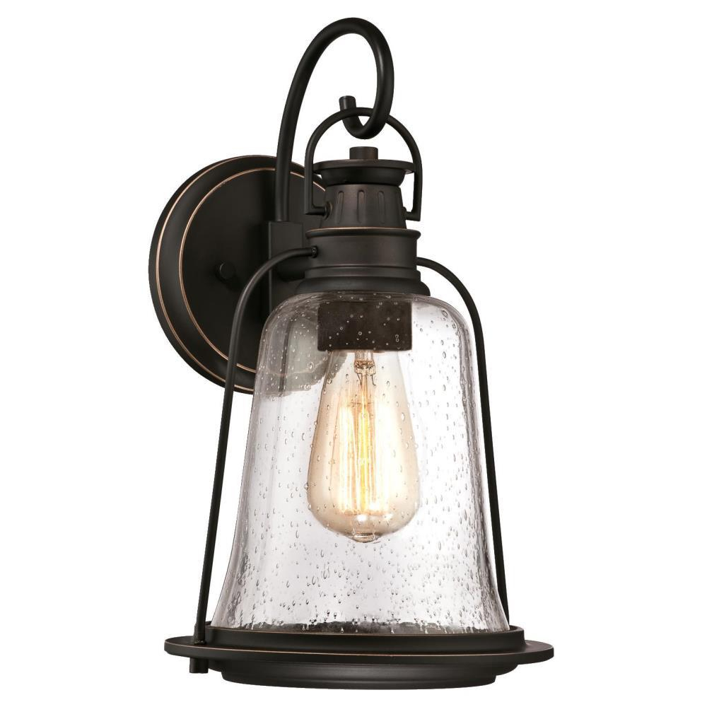 Most Current Westinghouse Brynn 1 Light Oil Rubbed Bronze With Intended For Tangier Dark Bronze Wall Lanterns (View 4 of 20)