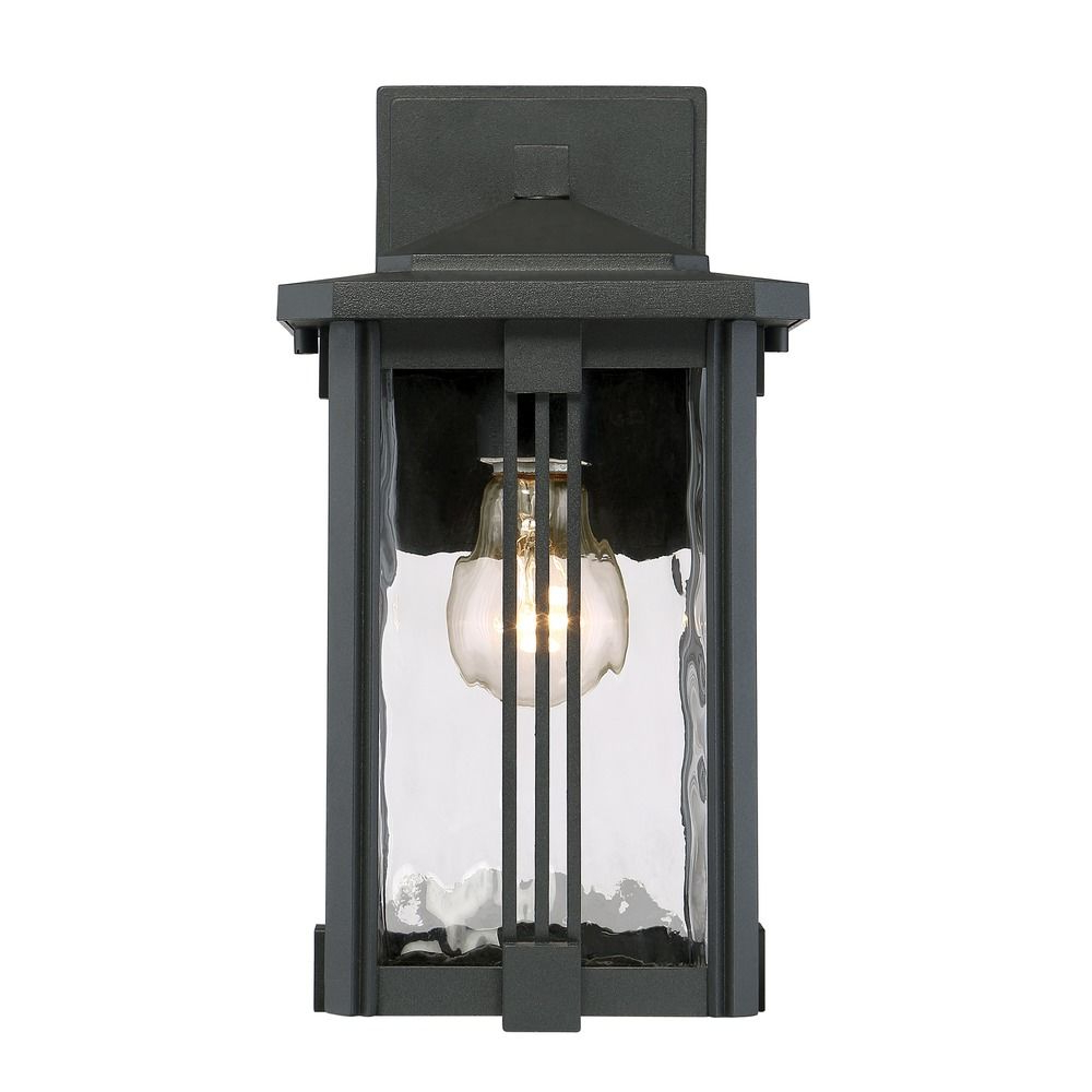 Most Popular Ainsworth Earth Black Outdoor Wall Lanterns In Quoizel Lighting Everglade Earth Black Outdoor Wall Light (View 5 of 20)