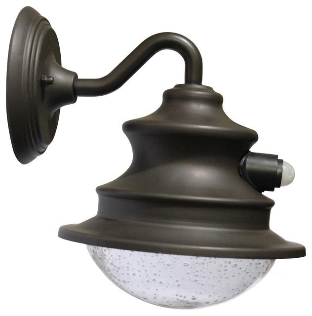 Most Popular Arryonna Outdoor Barn Lights Regarding Gama Sonic Gs 122pir Solar Barn Light With Motion Sensor (View 12 of 20)