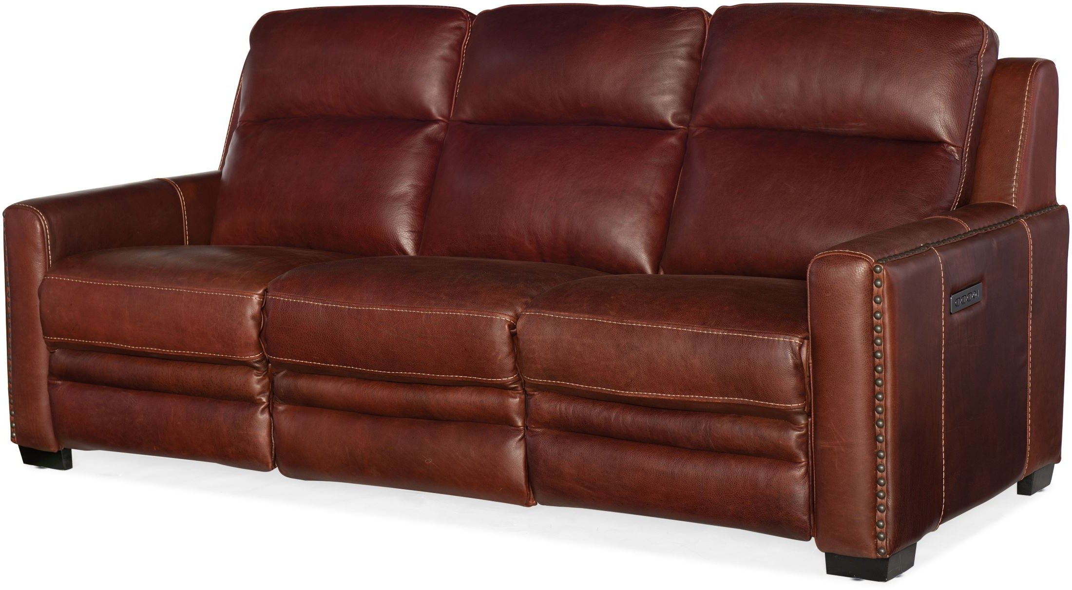 Most Popular Aviator Chaldan Rust Leather Power Reclining Sofa With For Raven Power Reclining Sofas (View 13 of 20)