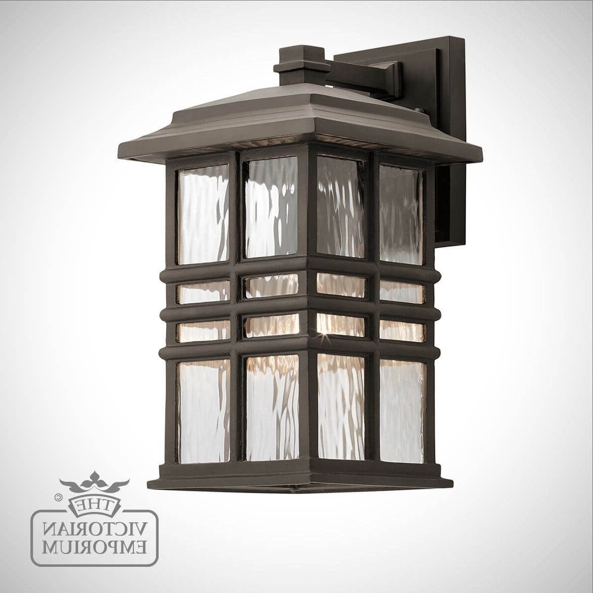 Most Popular Beacon Exterior Wall Light In A Choice Of Sizes Intended For Tilley Olde Bronze Water Glass Outdoor Wall Lanterns (View 8 of 20)