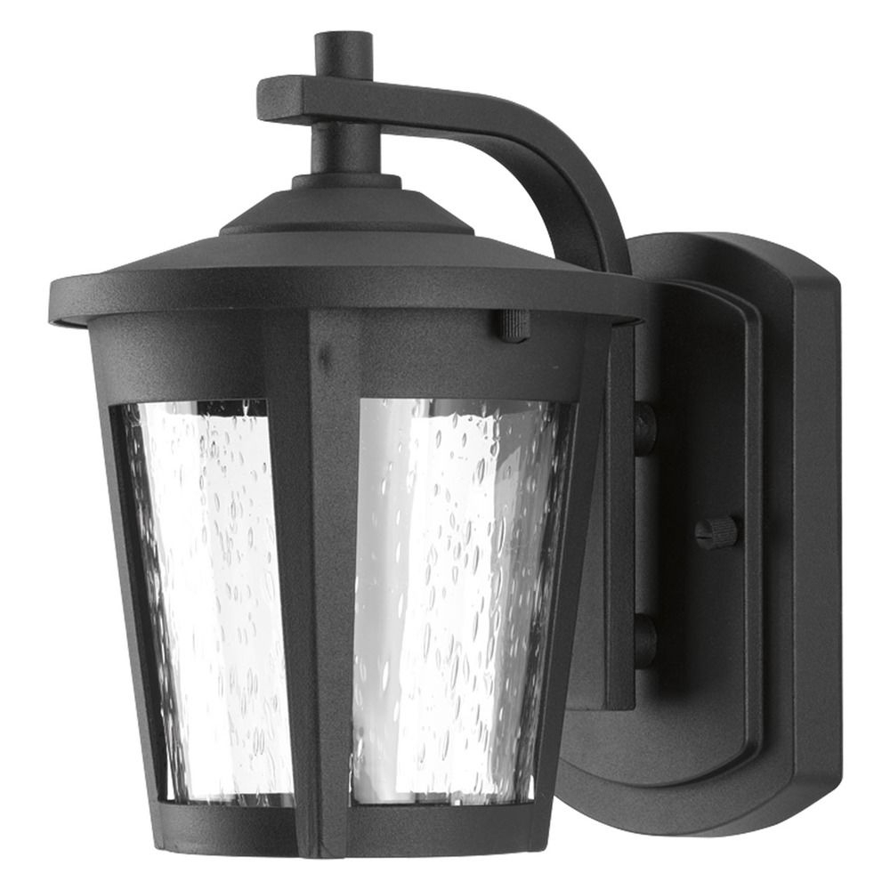 Most Popular Cherryville Black Seeded Glass Outdoor Wall Lanterns Pertaining To Seeded Glass Led Outdoor Wall Light Black Progress (View 10 of 20)