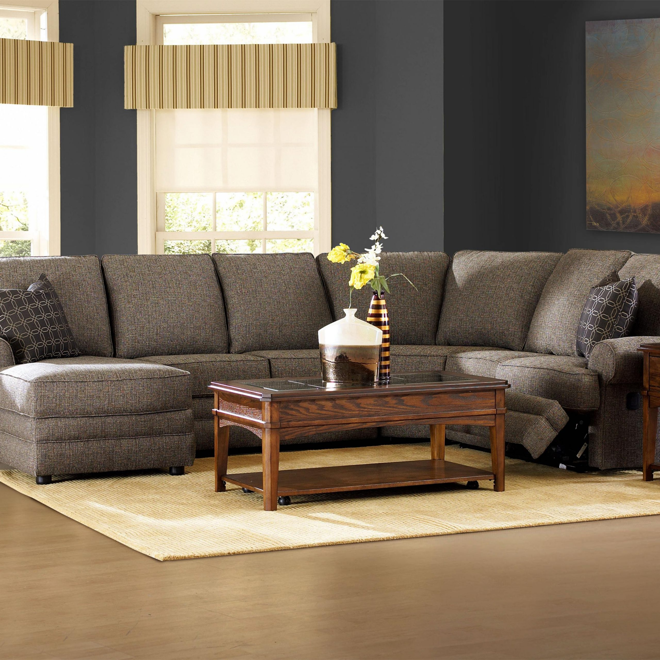 Most Popular Copenhagen Reclining Sectional Sofas With Right Storage Chaise Inside Reclining Sectional With Right Side Chaiseklaussner (View 17 of 20)