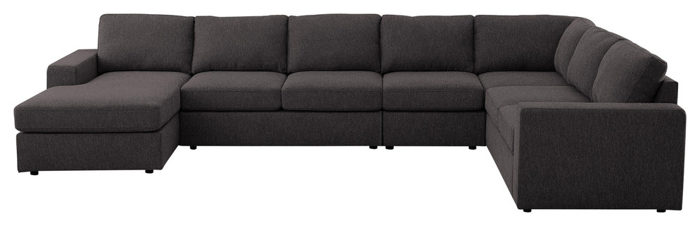 Most Popular Element Left Side Chaise Sectional Sofas In Dark Gray Linen And Walnut Legs With Tifton Modular Sectional Sofa With Reversible Chaise In (View 16 of 20)