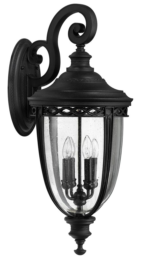 Most Popular Feiss English Bridle 4 Light Extra Large Outdoor Wall Inside Roden Black 3 Bulb Outdoor Wall Lanterns (View 16 of 20)