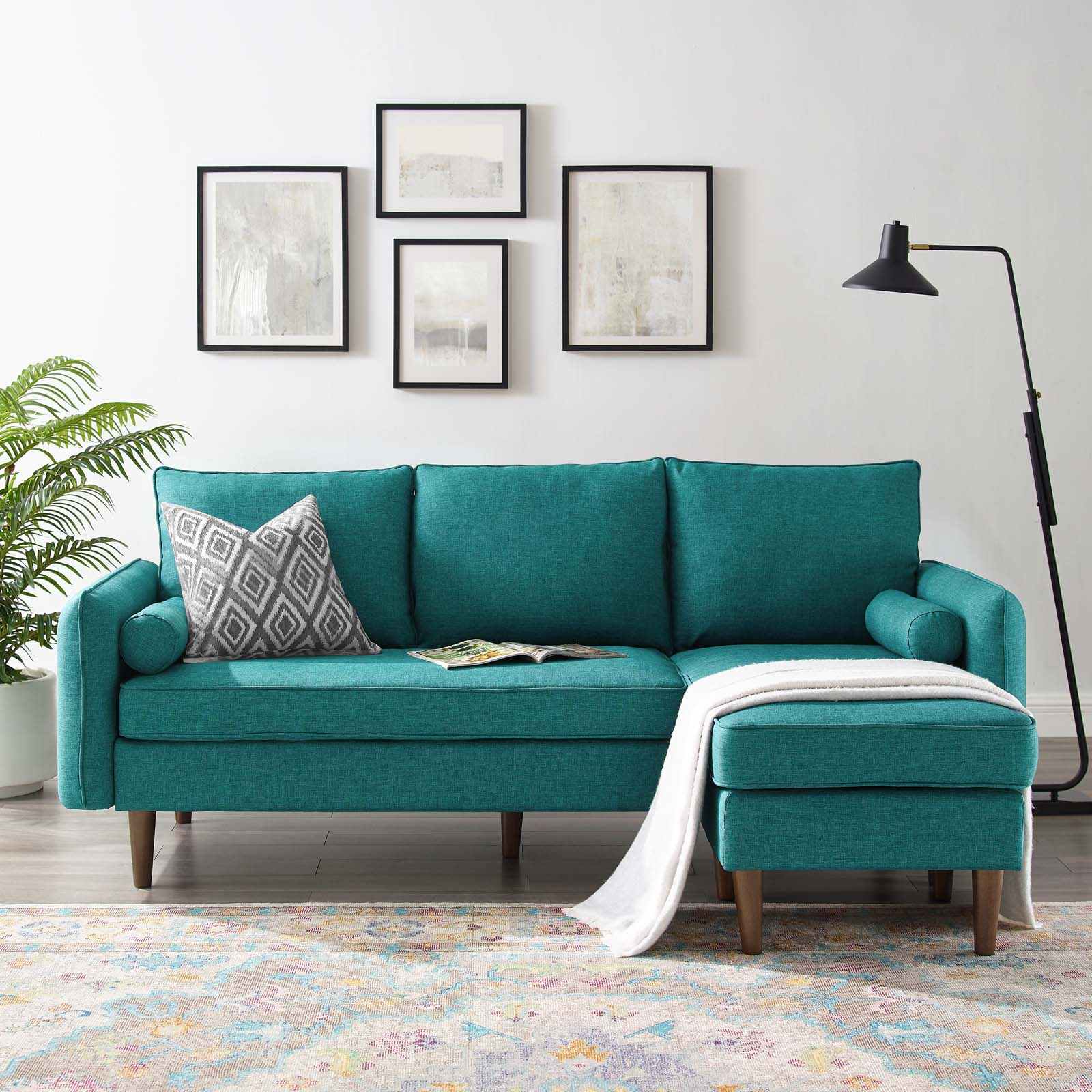 Most Popular Hannah Left Sectional Sofas Pertaining To Revive Upholstered Right Or Left Sectional Sofa Teal (View 5 of 20)