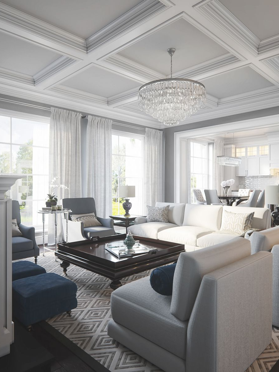 Most Popular Krajewski Wall Lanterns For This Is An Example Of A Traditional Open Concept Living (View 4 of 20)