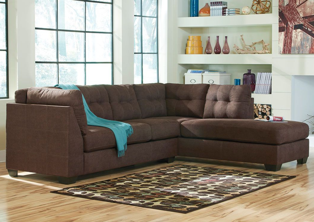 Most Popular Maier Walnut Left Arm Facing Chaise End Sectional With Regard To 2pc Maddox Left Arm Facing Sectional Sofas With Chaise Brown (View 4 of 20)