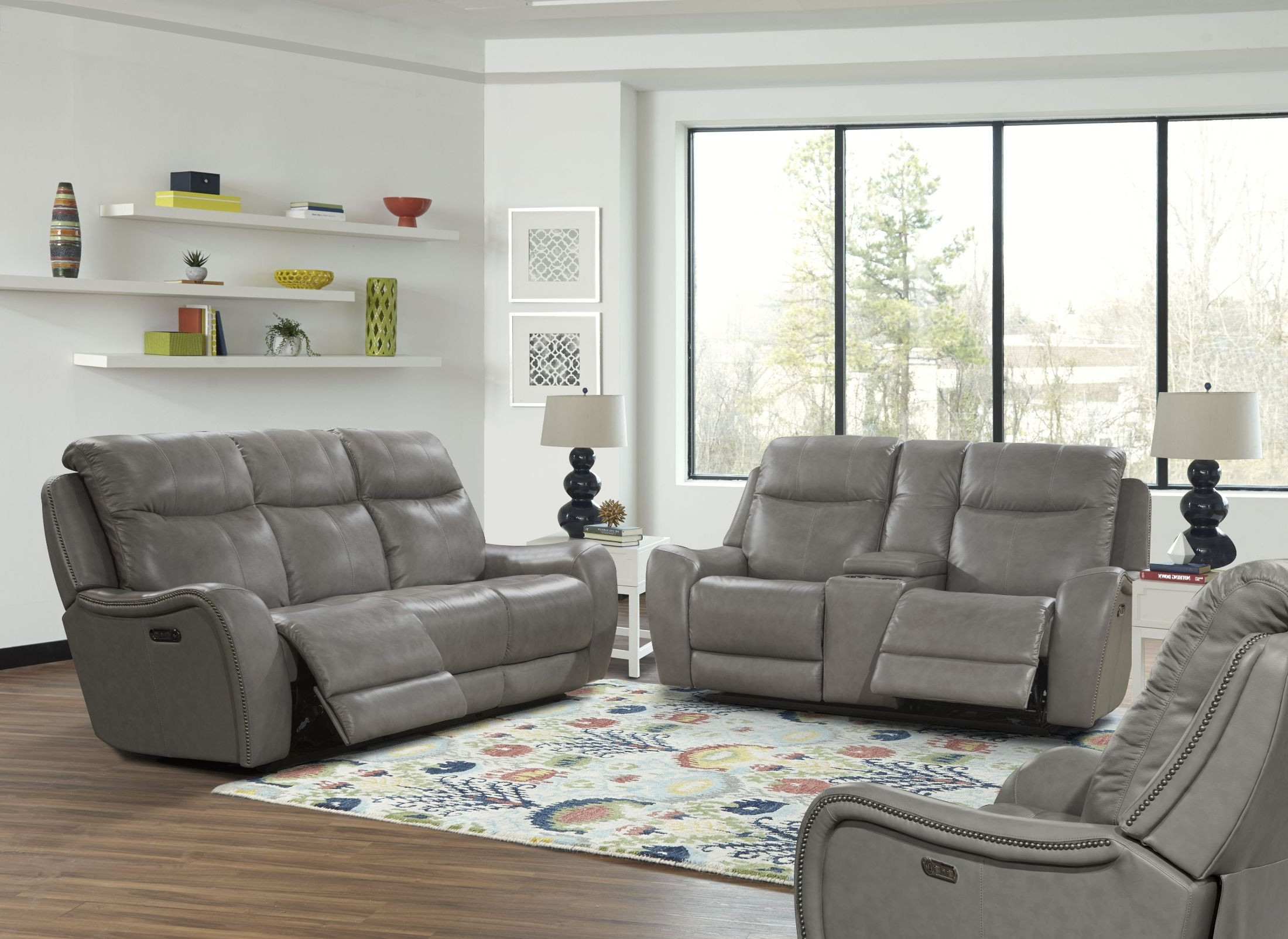 Most Popular Mammoth Grey Dual Power Reclining Sofa From Parker Living Intended For Dual Power Reclining Sofas (View 16 of 20)