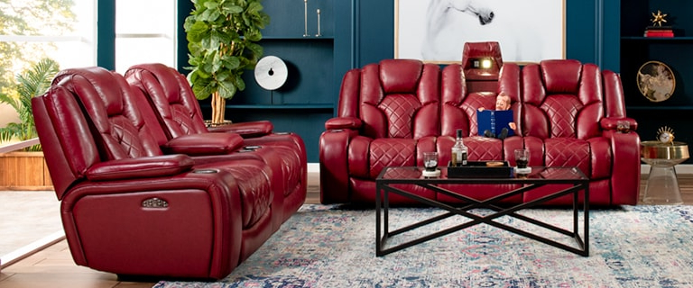 Most Popular Panther Leather Power Reclining Sofa Console Loveseat Throughout Panther Fire Leather Dual Power Reclining Sofas (View 14 of 20)