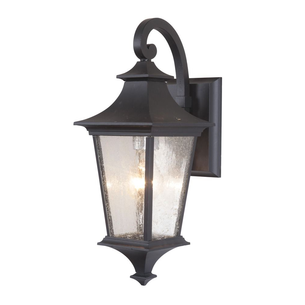 Most Popular Seeded Glass Outdoor Wall Light Black Craftmade Lighting With Palma Black/clear Seeded Glass Outdoor Wall Lanterns (View 3 of 20)