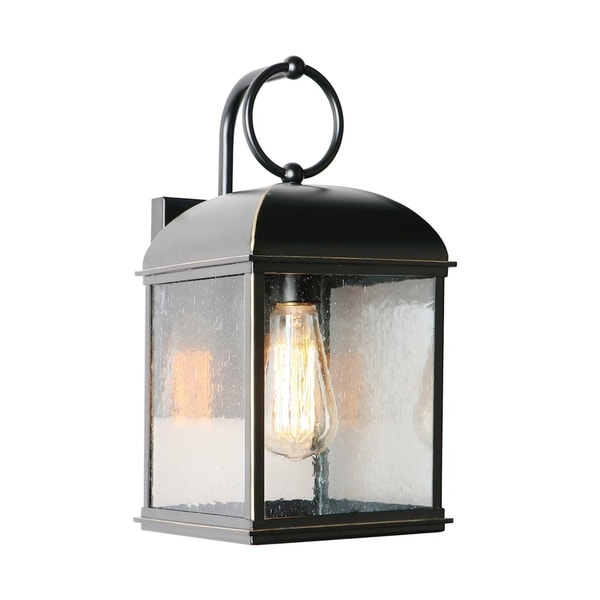Most Recent 1 Light Outdoor Wall Lantern In Imperial Black – On Sale With Regard To Feuerstein Black 16'' H Outdoor Wall Lanterns (View 15 of 20)