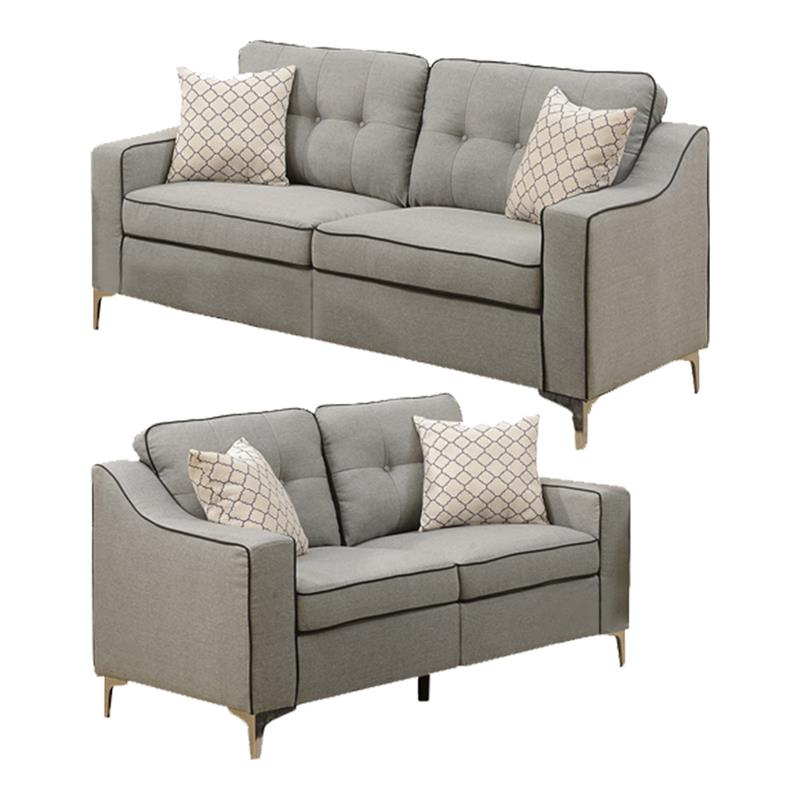 Most Recent 2pc Maddox Left Arm Facing Sectional Sofas With Cuddler Brown Pertaining To Living Room Sets: Sofa Sets With Couch And Loveseat (View 3 of 19)