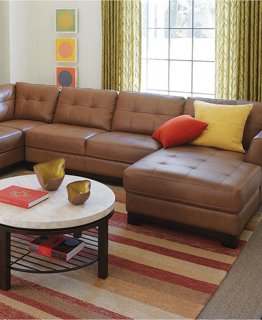 Most Recent 3pc Miles Leather Sectional Sofas With Chaise For Martino Leather 3 Piece Chaise Sectional Sofa – Furniture (View 11 of 20)
