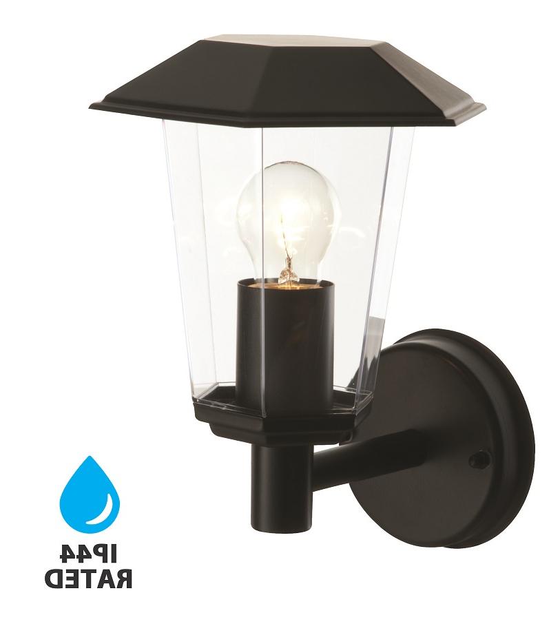 Most Recent Bensonhurst Matt Black Wall Lanterns For Modern Matt Black Outdoor Garden Wall Light Lantern (View 3 of 20)