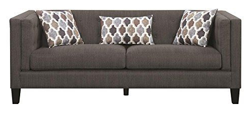 Most Recent Brayson Chaise Sectional Sofas Dusty Blue Throughout Scott Living Sawyer Fabric Stationary Sofa With Accent (View 2 of 20)