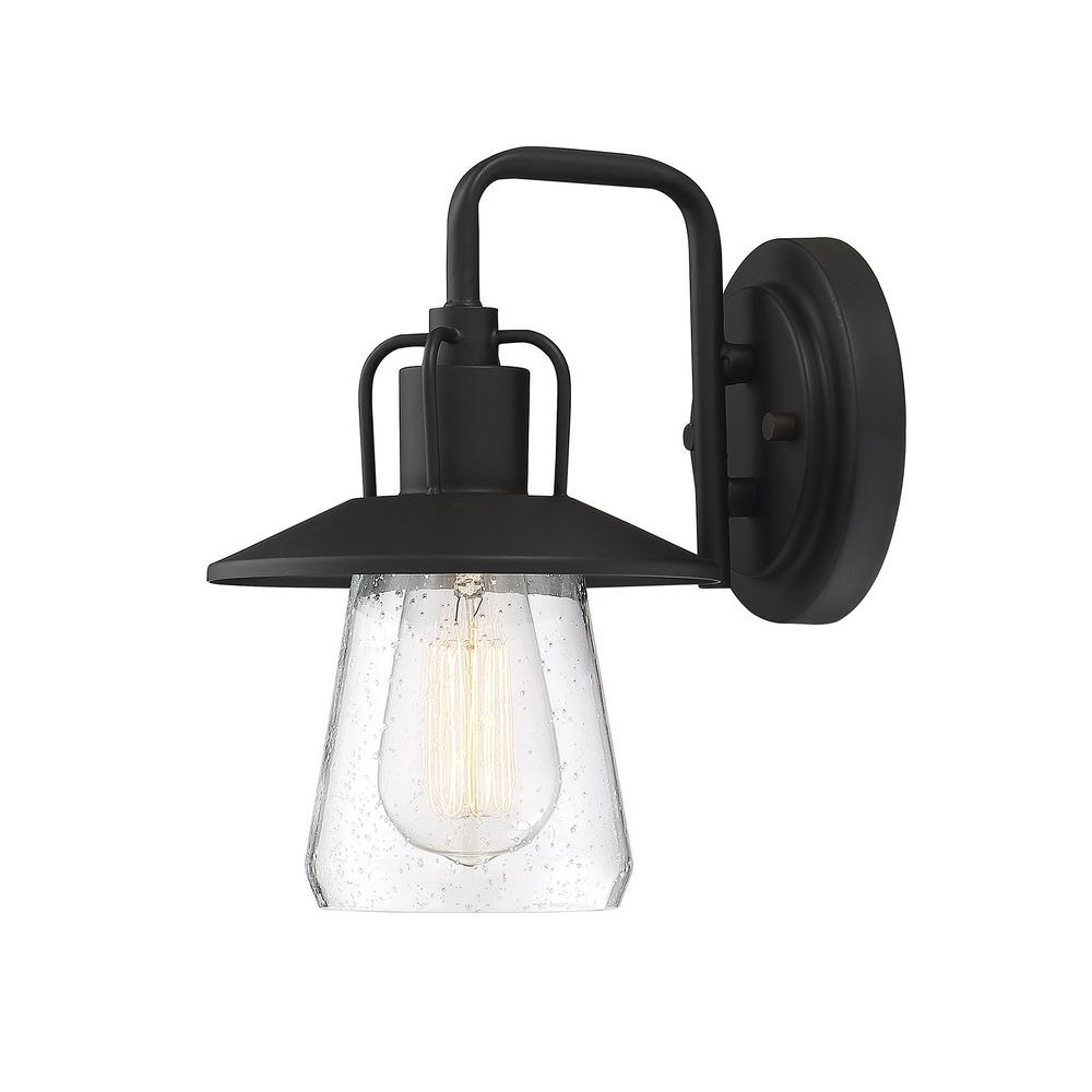 Most Recent Brook Black Seeded Glass Outdoor Wall Lanterns With Dusk To Dawn With C Cattleya 1 Light Black Motion Sensing Dusk To Dawn (View 8 of 20)