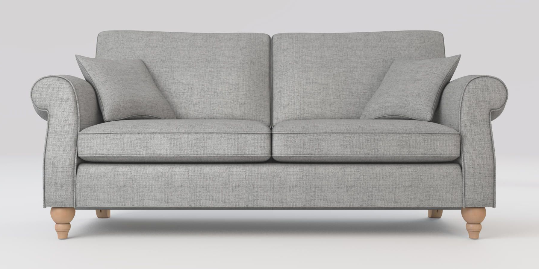 Most Recent Buy Ashford Firm Sit Large Sofa (3 Seats) Textured Weave Within Calvin Concrete Gray Sofas (View 13 of 20)