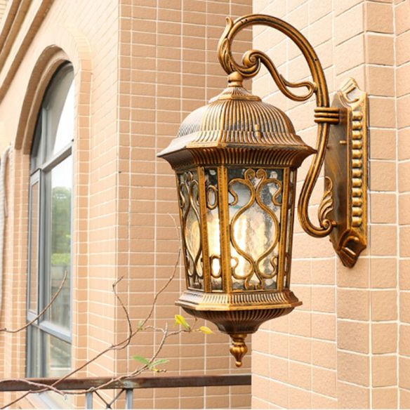 Most Recent Castellanos Black Outdoor Wall Lanterns Within Aluminum Lantern Wall Sconce Light Farmhouse 1 Head (View 8 of 20)