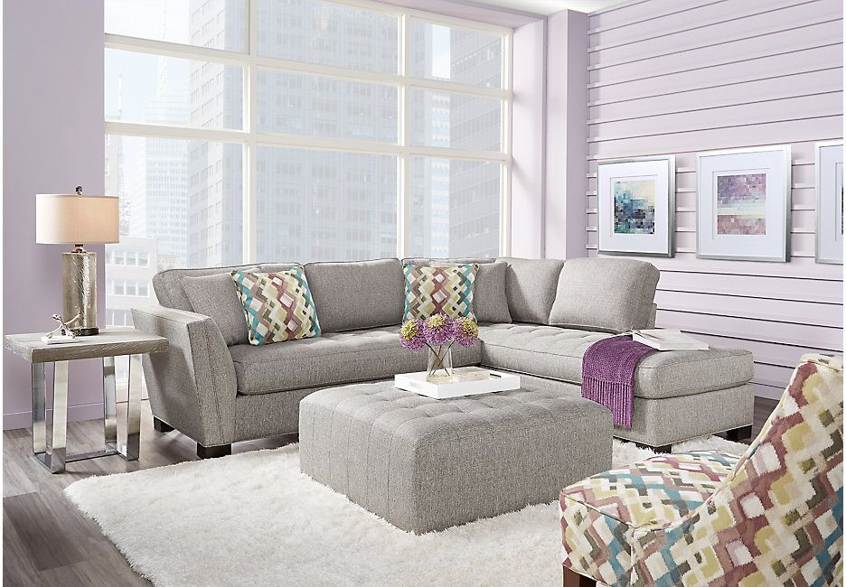 Most Recent Cindy Crawford Home Calvin Heights Gray 2 Pc Sectional For Calvin Concrete Gray Sofas (View 7 of 20)