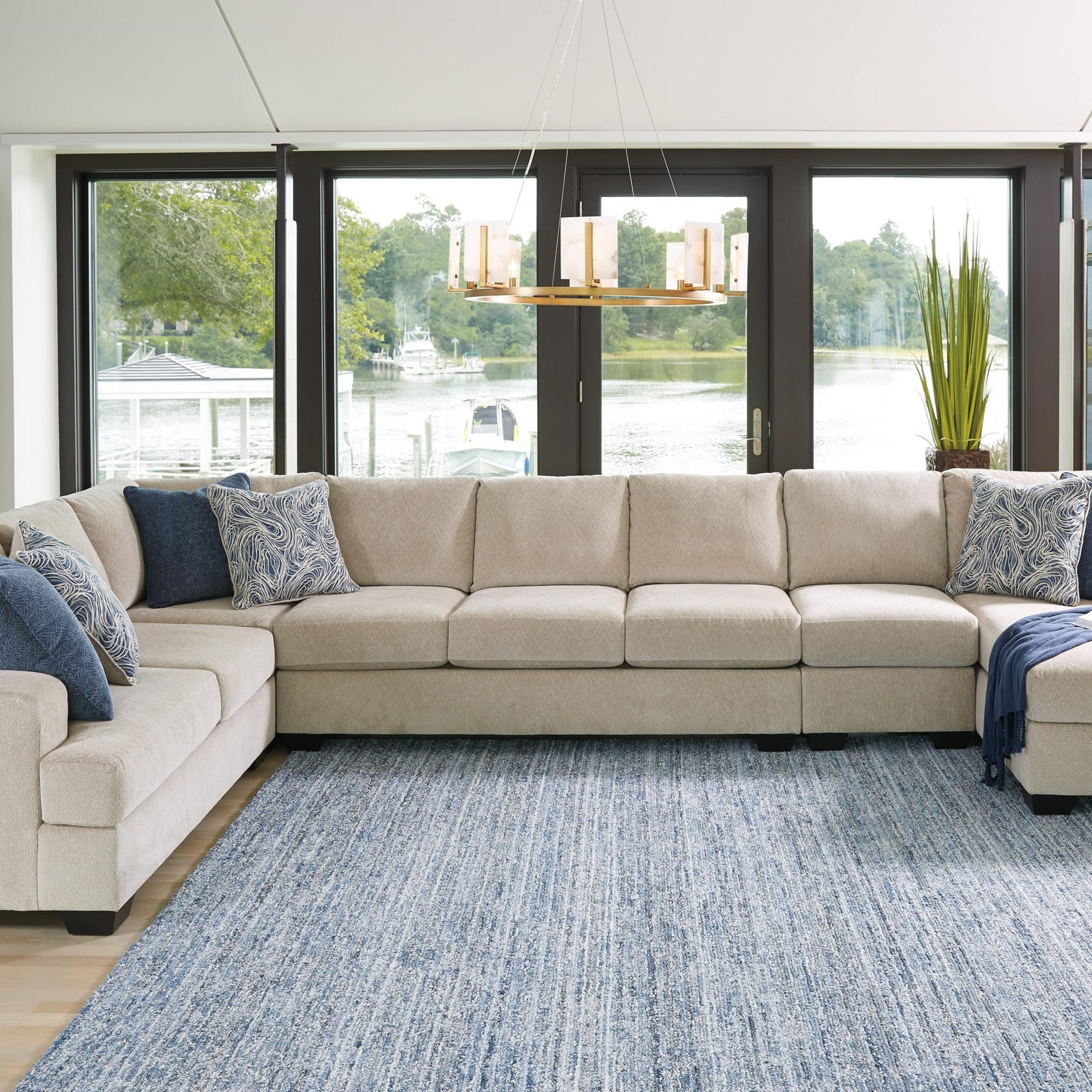 Most Recent Hannah Left Sectional Sofas For Ashley Furniture Enola 6150056+16+99+77+46 Sepia 5pc Left (View 18 of 20)