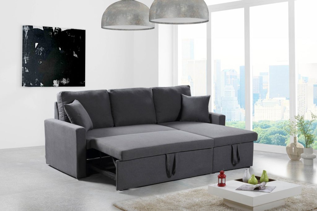 Most Recent Husky® Reversible Sectional Sofa Bed – Free Shipping In Canada With Regard To Twin Nancy Sectional Sofa Beds With Storage (View 15 of 20)