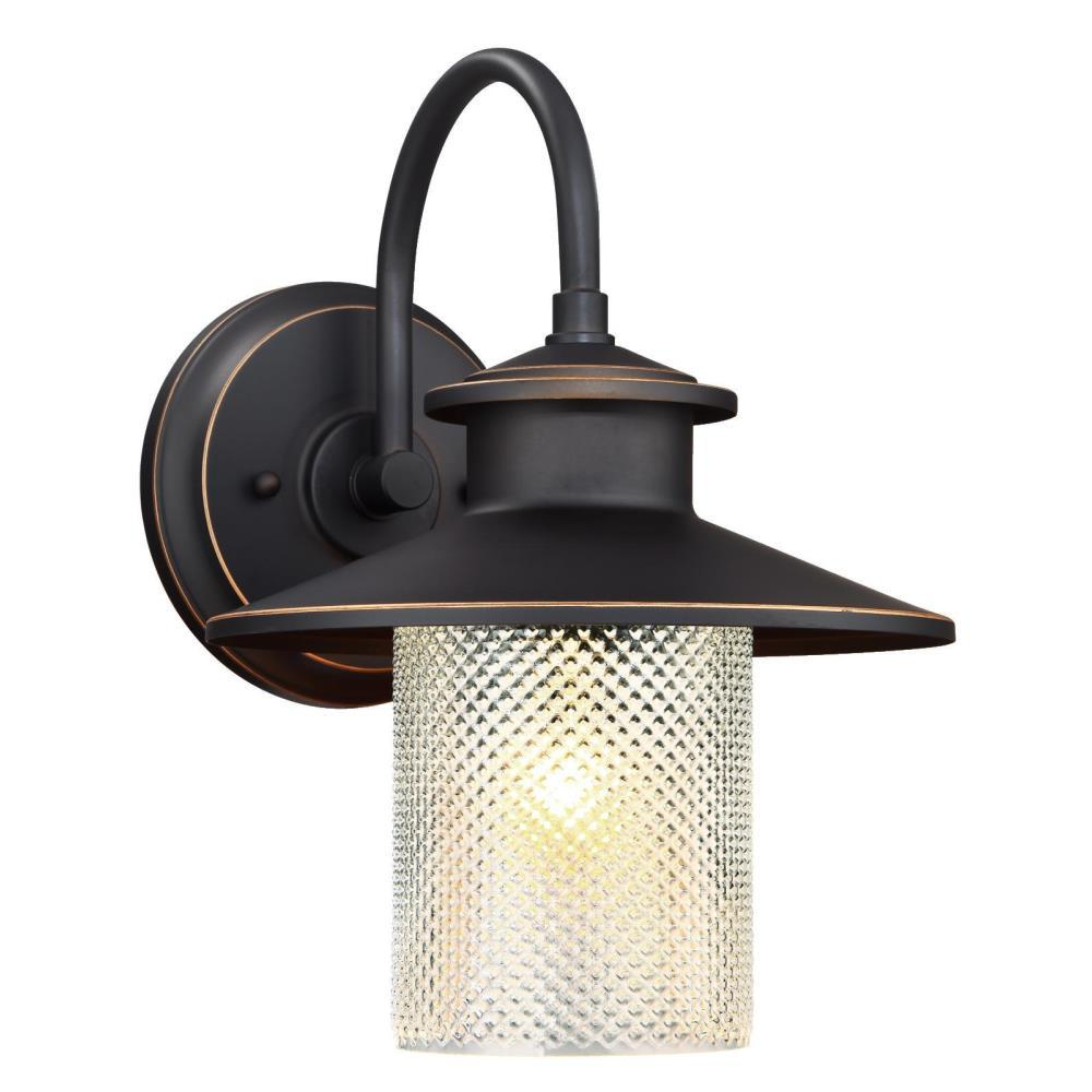 Most Recent Jordy Oil Rubbed Bronze Outdoor Wall Lanterns For Westinghouse Delmont Oil Rubbed Bronze 1 Light With (View 19 of 20)