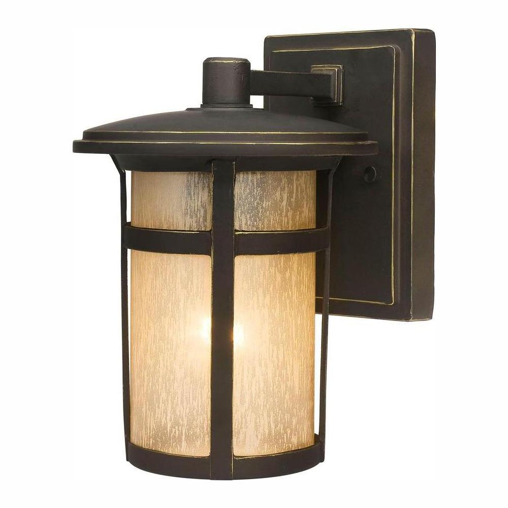 Most Recent Tangier Dark Bronze Wall Lanterns For Home Decorators Collection Round Craftsman 1 Light Dark (View 5 of 20)