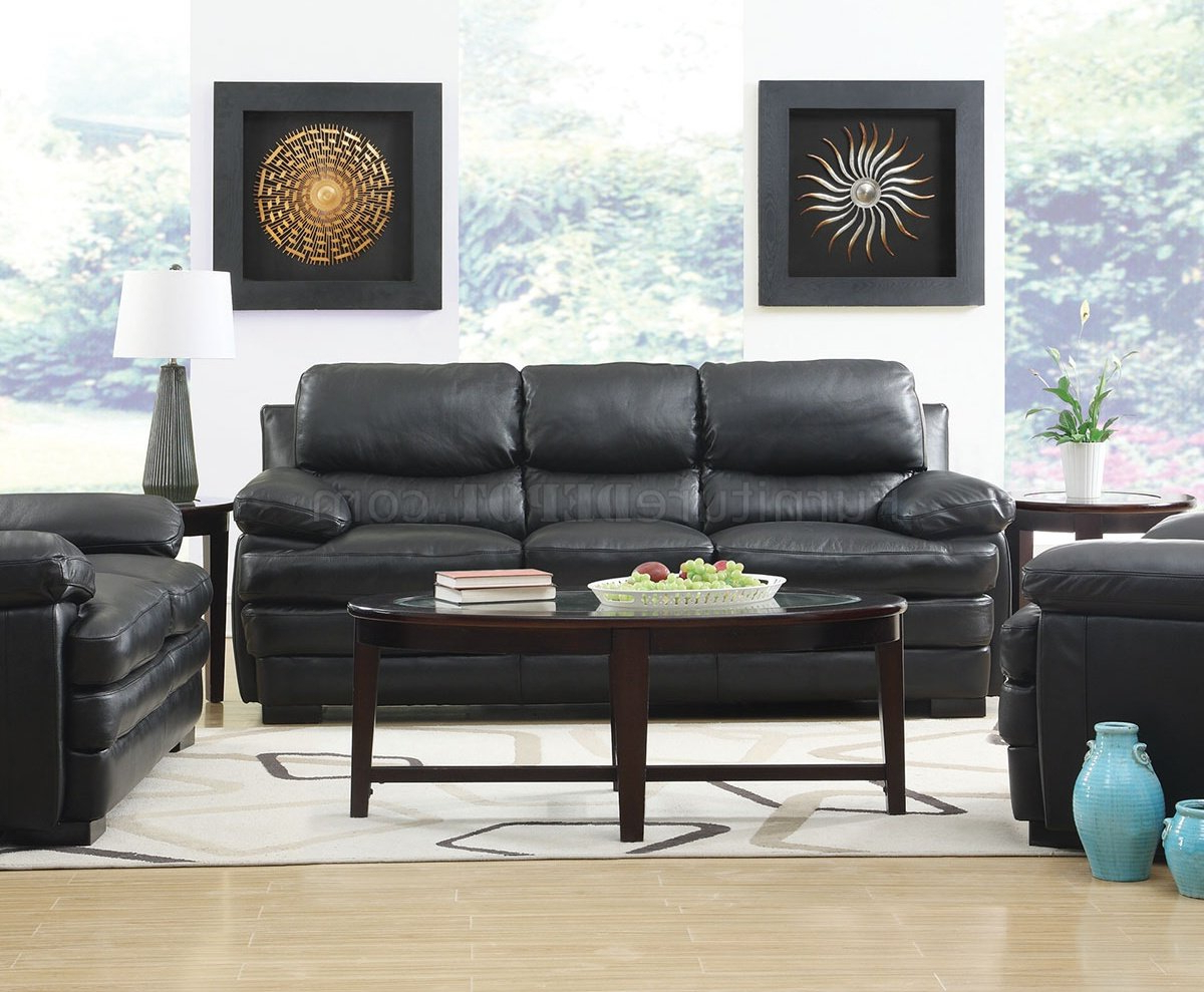 Most Recent Wilton Sofa & Loveseat In Black Leather Match W/options In Wilton Fabric Sectional Sofas (View 11 of 20)