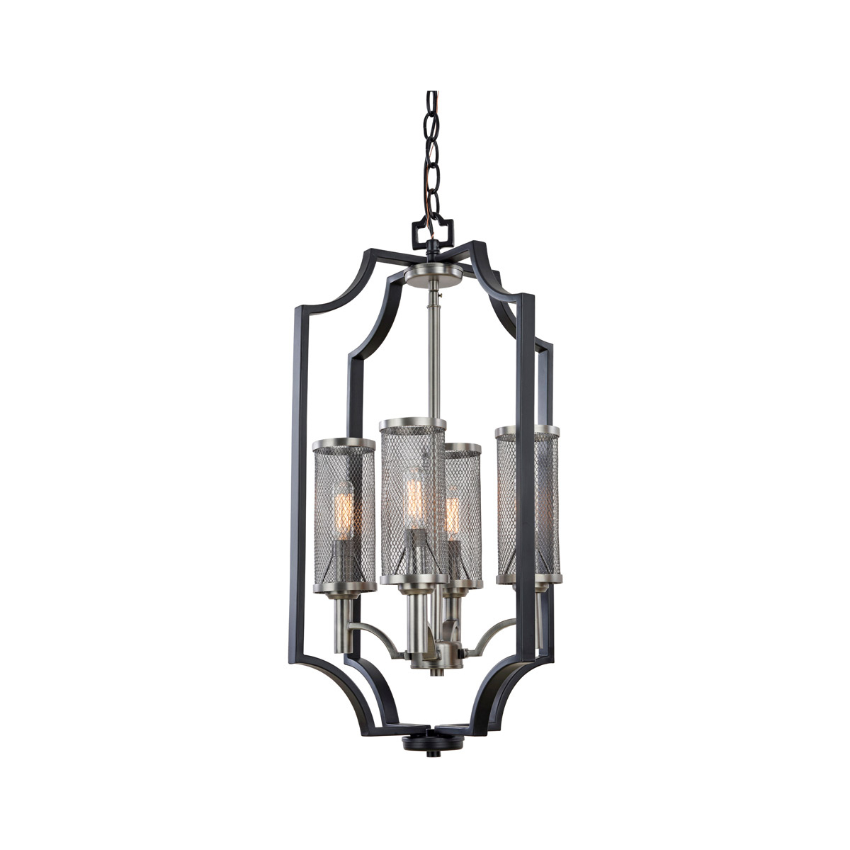 Most Recently Released Artcraft Lighting Ac10493 Oxford Chandelier Matte Black In Rickey Matte Antique Black Wall Lanterns (View 6 of 20)