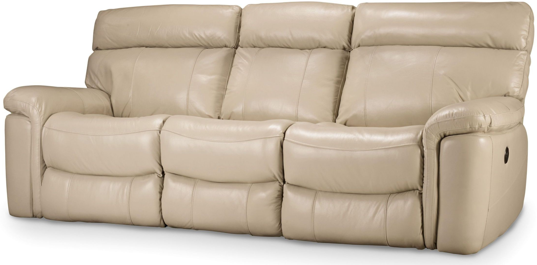 Most Recently Released Beige Sofas Regarding Melanie Beige Leather Reclining Sofa, Ss620 03 082, Hooker (View 16 of 20)
