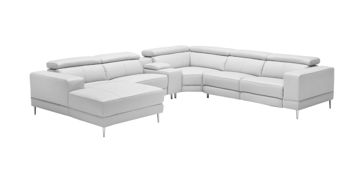 Most Recently Released Calvin Concrete Gray Sofas With Regard To Bergamo Extended Sectional Motion Sofa Light Gray (View 6 of 20)
