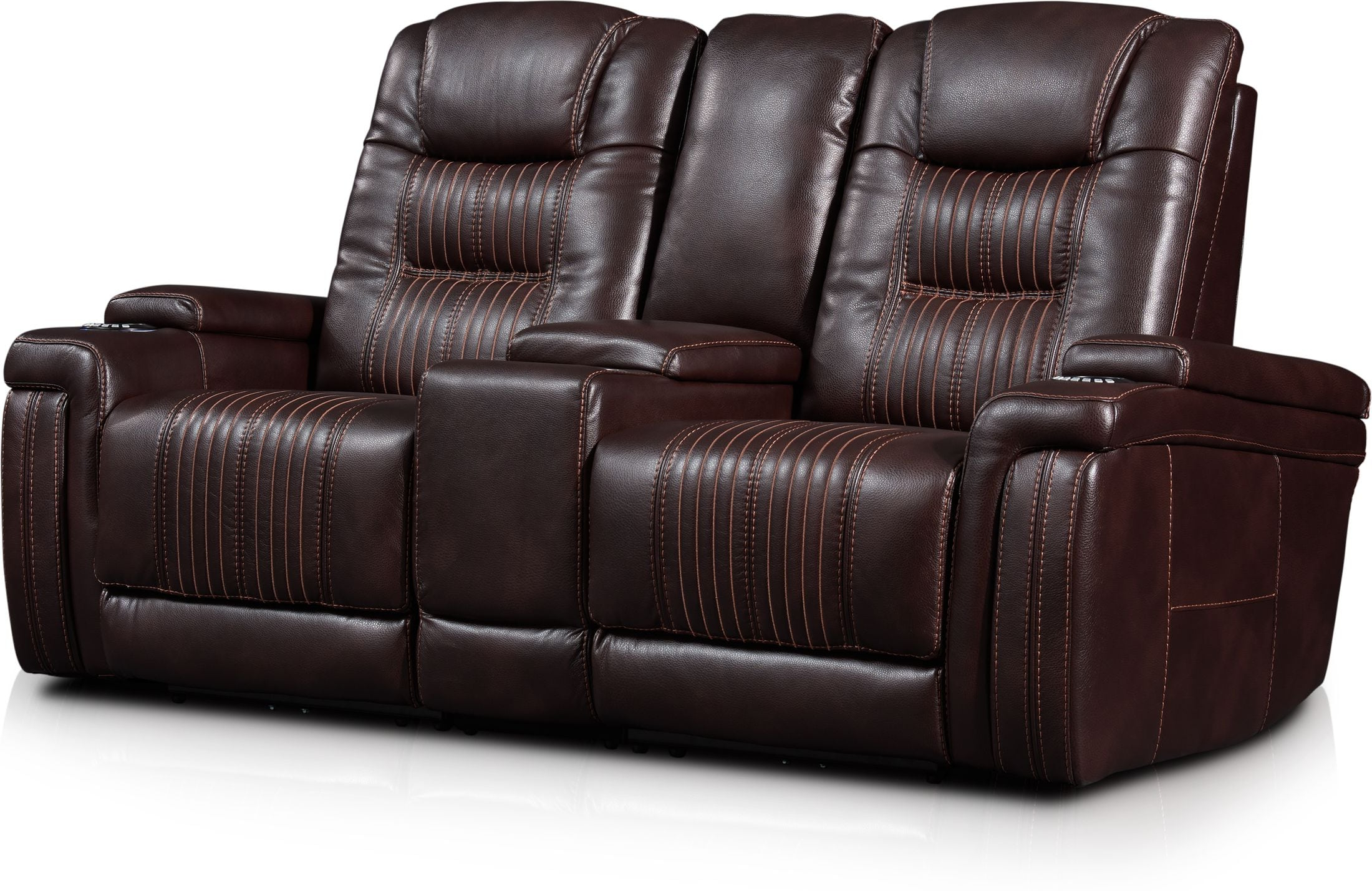 Most Recently Released Charleston Triple Power Reclining Sofas Throughout Magnus 3 Piece Triple Power Reclining Sofa With Console (View 1 of 20)
