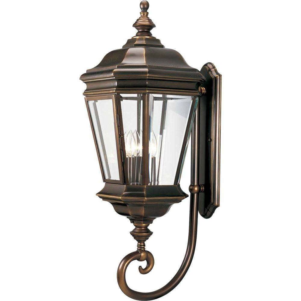 Most Recently Released Cowhill Dark Bronze Wall Lanterns For Progress Lighting Crawford 4 Light Oil Rubbed Bronze (View 2 of 20)