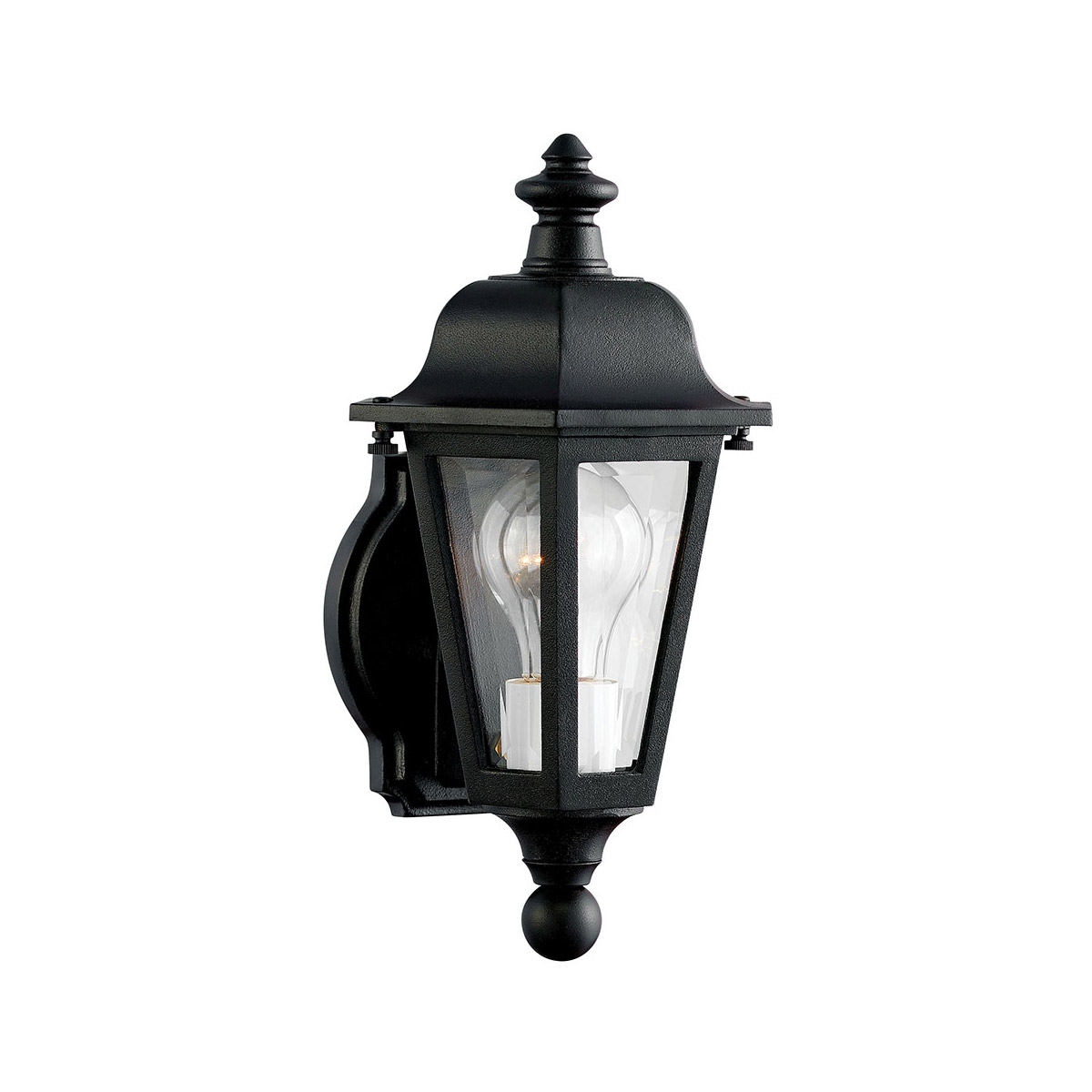 Most Recently Released Hinkley Lighting 1819bk Manor House 1 Light 13 Inch Black Pertaining To Esquina Powder Coated Black Outdoor Wall Lanterns (View 2 of 20)