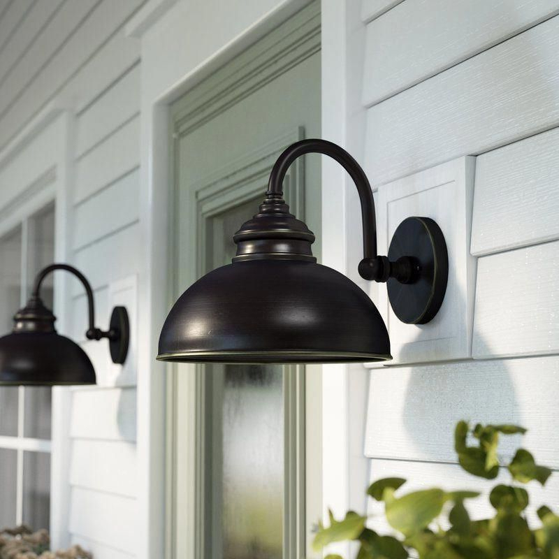 Featured Photo of Ranbir Oil Burnished Bronze Outdoor Wall Lanterns With Dusk To Dawn