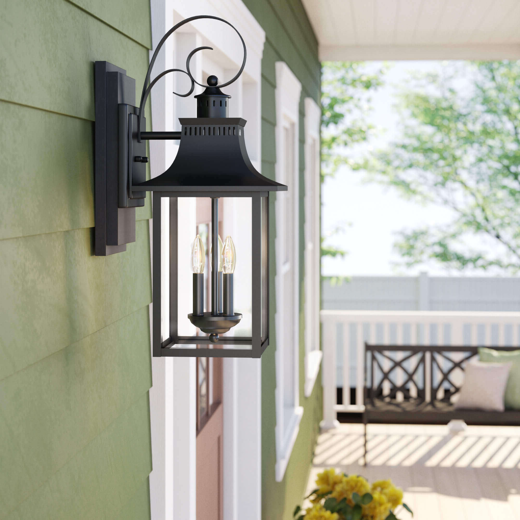Most Recently Released Mesmerizing Outdoor Wall Lights And Sconces Design Ideas Throughout Clarence Black Outdoor Wall Lanterns (View 5 of 20)